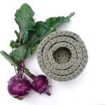 3 részes horgolt kosár szett, ékszertartó – szárított zöldfűszer vagy más színben