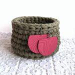 Fáradt sötét rózsaszín Félhold textilékszer