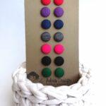 Textilfülbevaló csomag Mini vagy Micro méretben, Tél színskála – 7 pár