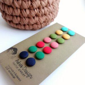 Mini vagy Micro textilfülbevaló csomag, Élénk tavasz színskála