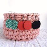 Hármas Midi textilfülbevaló csomag – világoskék alapon növénykés, egyszínű rókavörös, egyszínű sötétkék, 3 pár