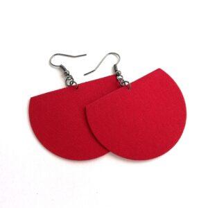 Piros Félhold textilékszer
