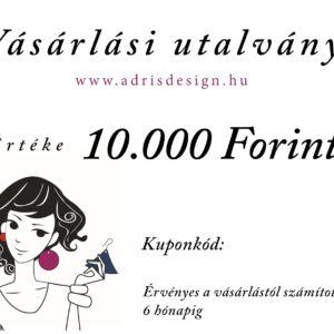 Ajándék utalvány vásárláshoz 10.000 Forint