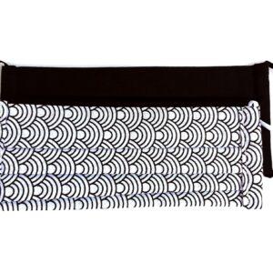 Kétrétegű szájmaszkok, fekete és fekete-fehér íves mintás maszkok, 2 db/csomag