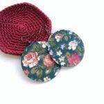 Zöldes türkizes alapon barack rózsás textilékszer Maxi