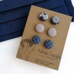 MINI textil fülbevaló csomag – 3 pár