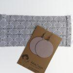 Egyszínű kőszürke textilékszer Maxi
