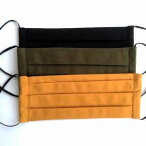 3 db-os kétrétegű egyszínű szájmaszk csomag
