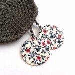 Apró virágos Midi textilfülbevaló csomag 3 pár