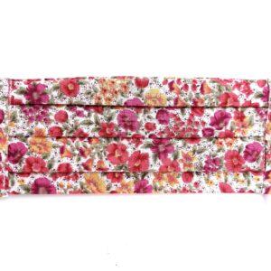 Vidám színes virágmintás textilmaszk