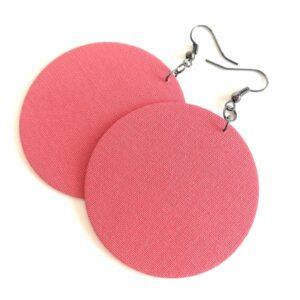 Rózsaszín MAXI textilfülbevaló
