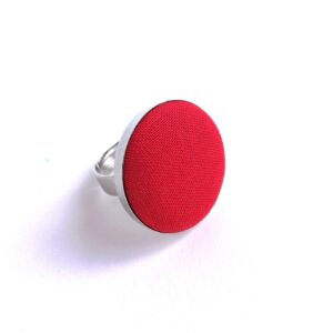 Egyszínű piros textilgyűrű választható méretben